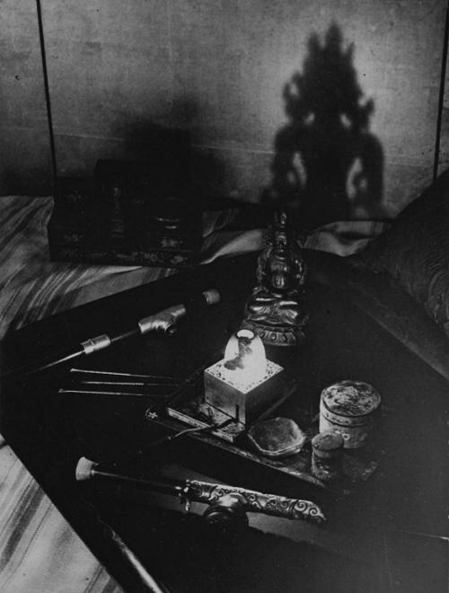 An opium den, Avenue Bosquet, Paris, 1932