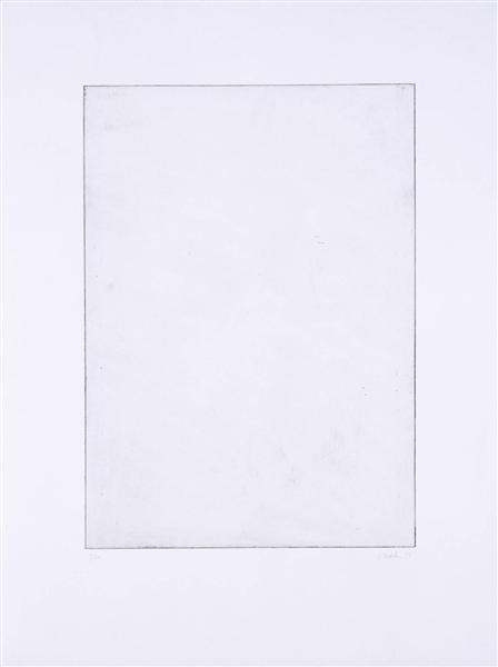 Untitled (e) From Five Plates, 1973 - Brice Marden
