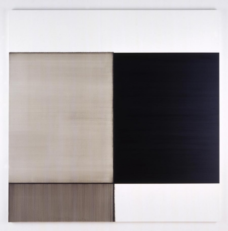 Exposed Painting Ivory Black, 2007 - Callum Innes