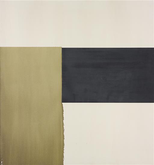 Exposed Painting, Olive Green, 1998 - Callum Innes