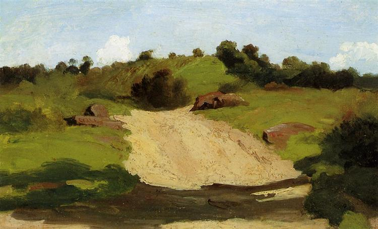 A Rising Path, c.1845 - Camille Corot
