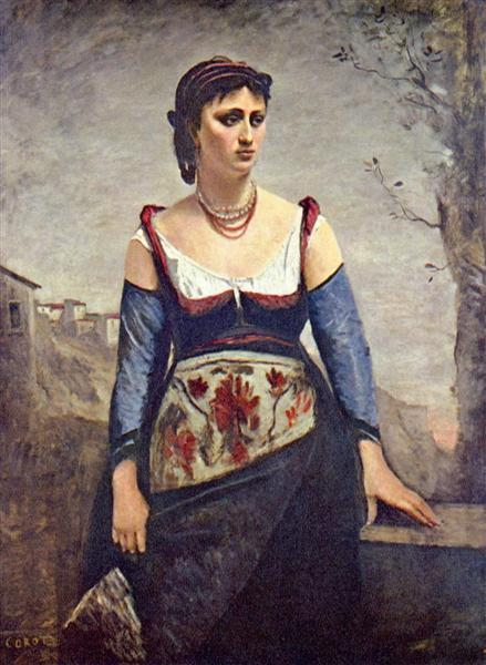 Agostina, 1866 - Camille Corot