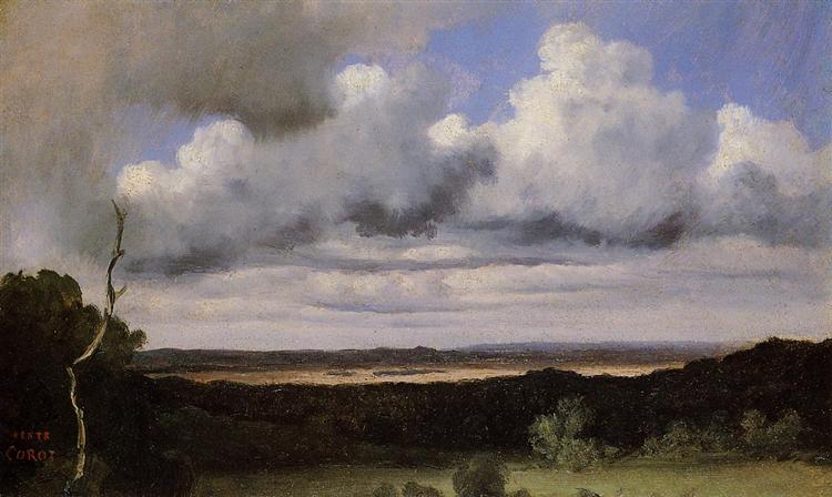 Fontainebleau, Storm over the Plains - Camille Corot