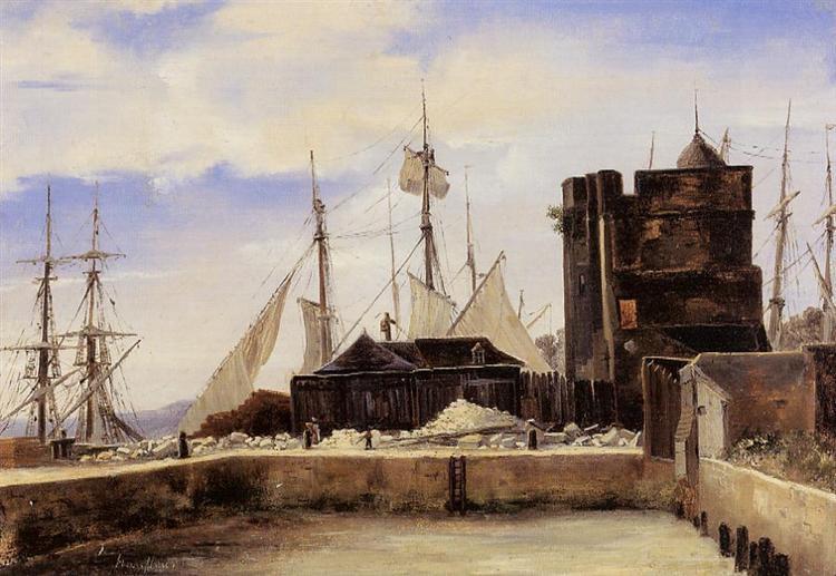 Honfleur, The Old Wharf - Camille Corot