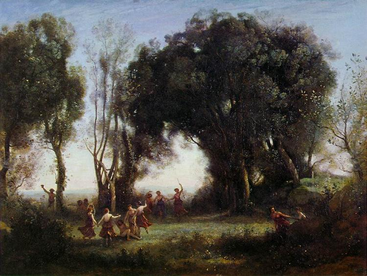 Morning, the Dance of the Nymphs - Camille Corot