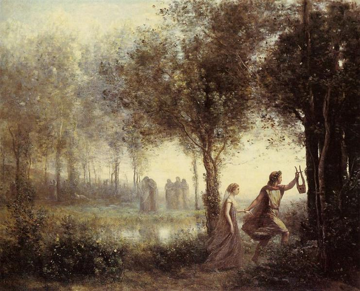 Orpheus Leading Eurydice from the Underworld, 1861 - Jean-Baptiste Camille Corot