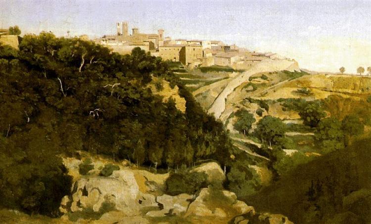 Volterra, 1834 - Camille Corot