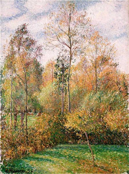 Autumn, Poplars, 1893 - Camille Pissarro