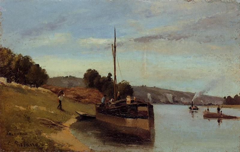 Barges at Le Roche Guyon, 1865