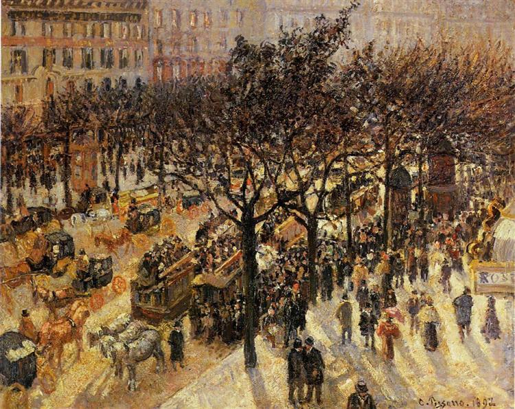 Boulevard des Italiens Afternoon, 1897 - Камиль Писсарро
