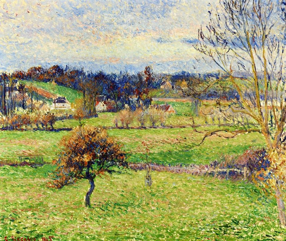 Neo Impressionism Artists: Field At Eragny, 1885