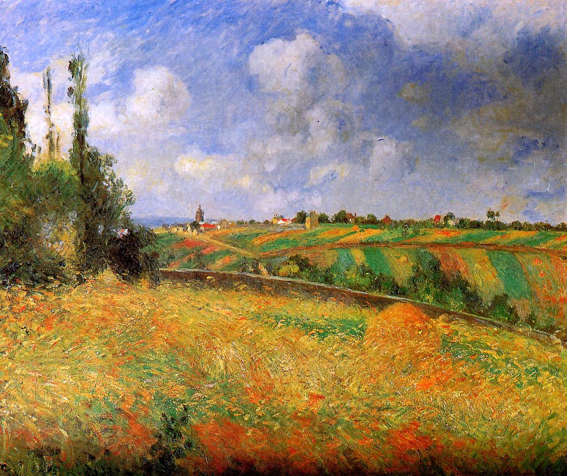 Fields 1877 camille pissarro for Camille pissarro oeuvre