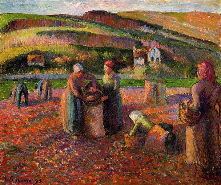 Potato Harvest, 1893 - Каміль Піссарро