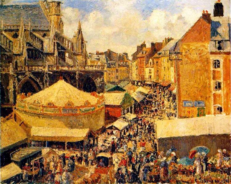 The Fair in Dieppe, Sunny Morning, 1901 - Камиль Писсарро
