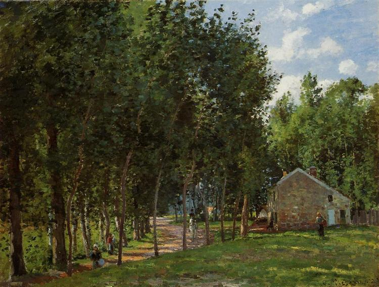 The House in the Forest, 1872 - Camille Pissarro