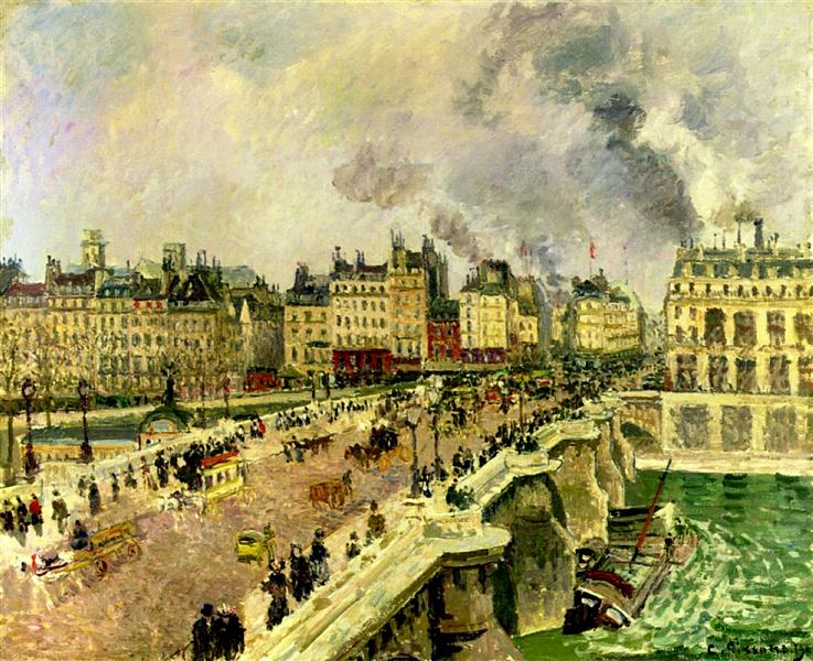The Pont Neuf, Shipwreck of the Bonne Mere, 1901 - Camille Pissarro