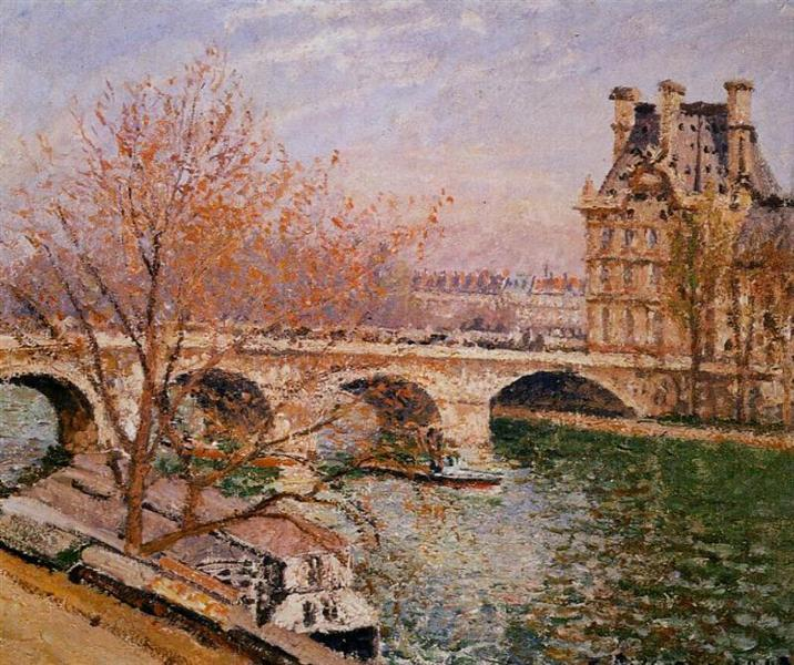 The Pont Royal and the Pavillion de Flore, 1903 - Camille Pissarro