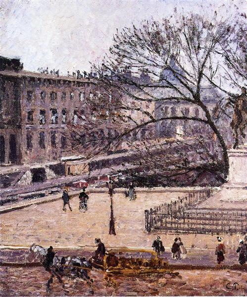 The Treasury and the Academy, Gray Weather, 1903 - Каміль Піссарро