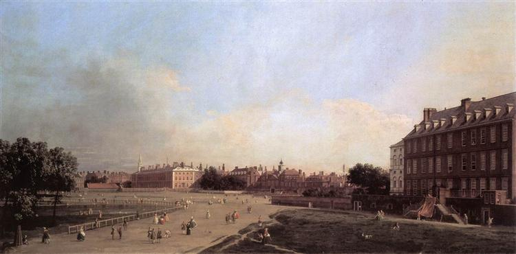 London: the Old Horse Guards from St James's Park, 1749 - Canaletto