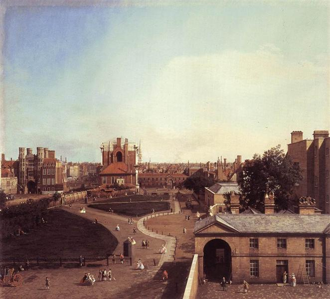 London: Whitehall and the Privy Garden from Richmond House, 1747 - Canaletto