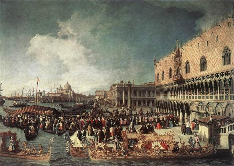 Reception of the Ambassador in the Doge's Palace, 1730 - Canaletto