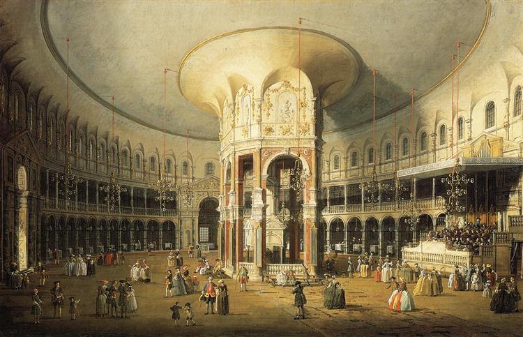 The Interior of the Rotunda, Ranelagh Gardens, c.1751 - Canaletto