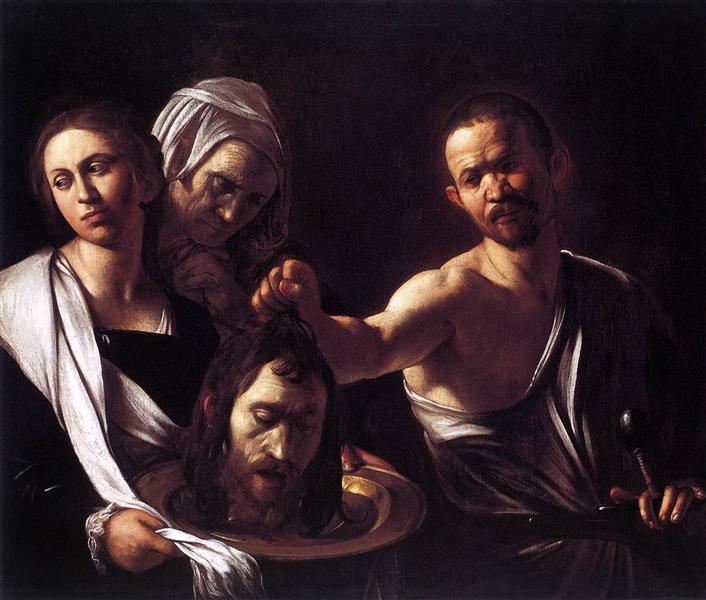Salome with the Head of John the Baptist, c.1607 - Caravaggio