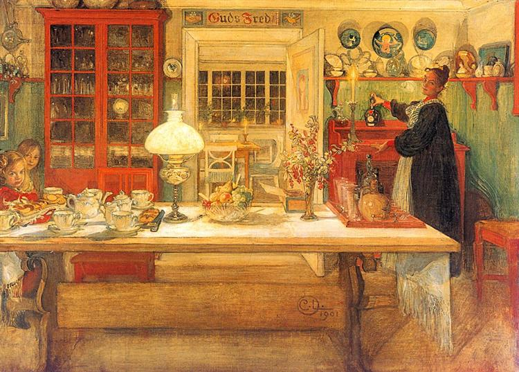 Getting Ready for a Game, 1901 - Carl Larsson