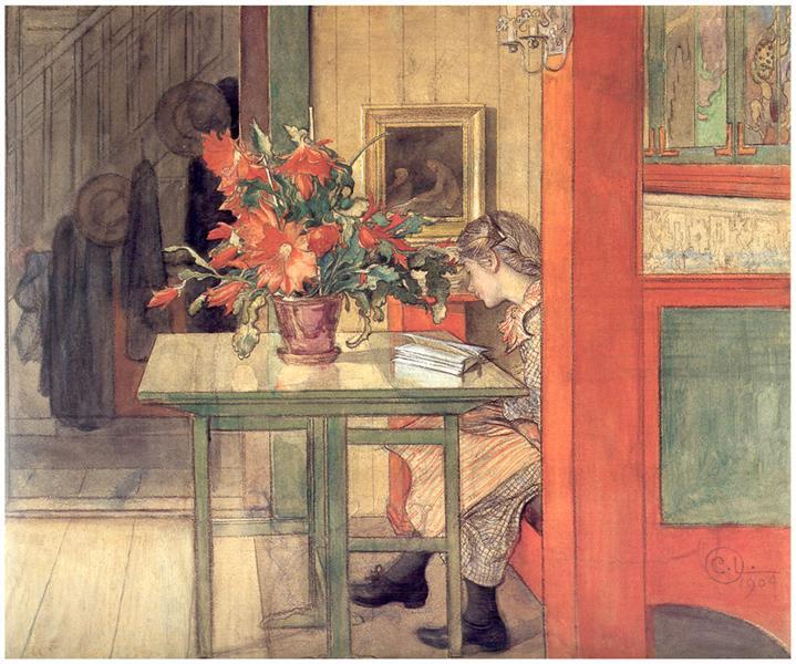 Lisbeth reading, 1904 - Carl Larsson