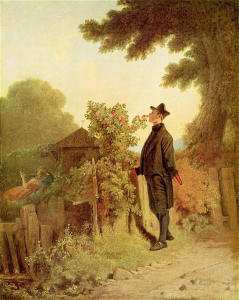 Rose scent memory, 1850 - Carl Spitzweg