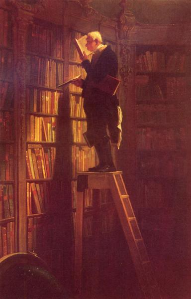 The Book Worm, 1850 - Carl Spitzweg