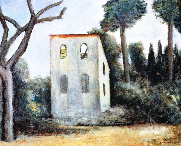 La casa abbandonata, 1930 - Carlo Carra