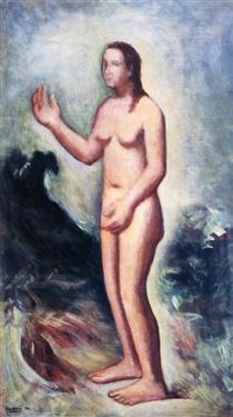 Venere anadiomene II - Carlo Carra
