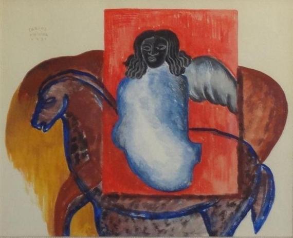 Angel on Horseback - Merida Carlos - WikiArt.org