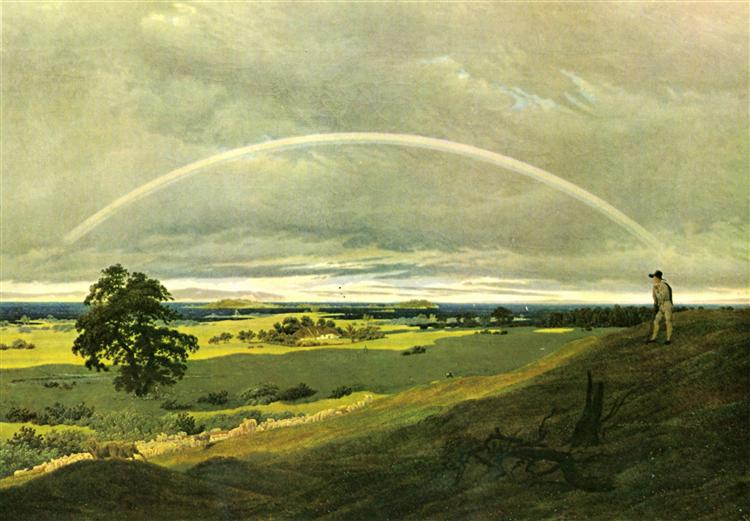 Landscape with rainbow - Caspar David Friedrich