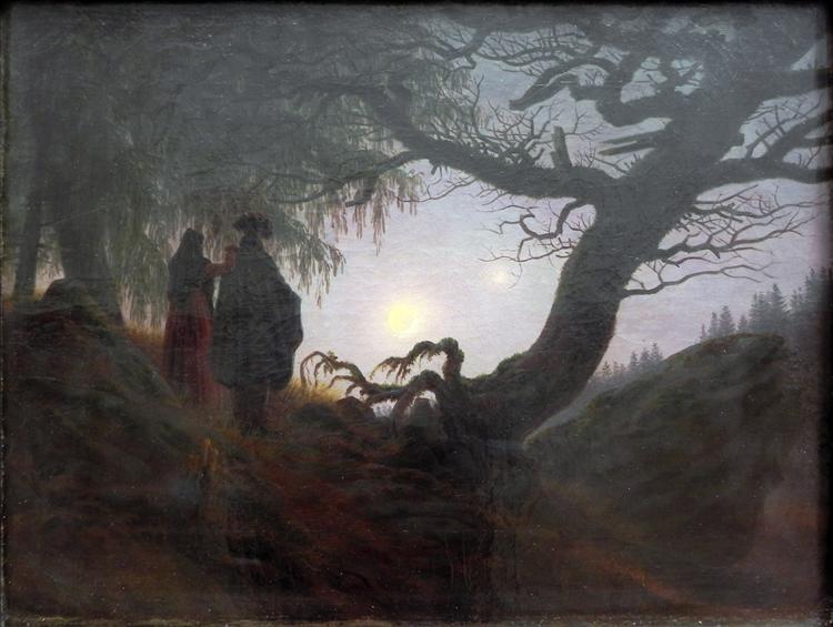 Couple Gazing at the Moon, 1824 - Caspar David Friedrich