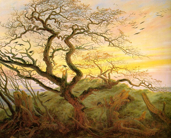 The Tree of Crows - Caspar David Friedrich