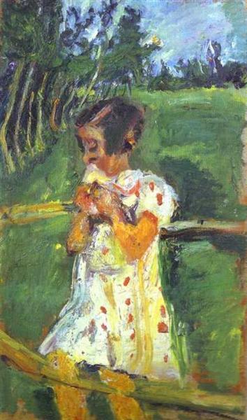 Girl at Fence, c.1939 - Chaïm Soutine