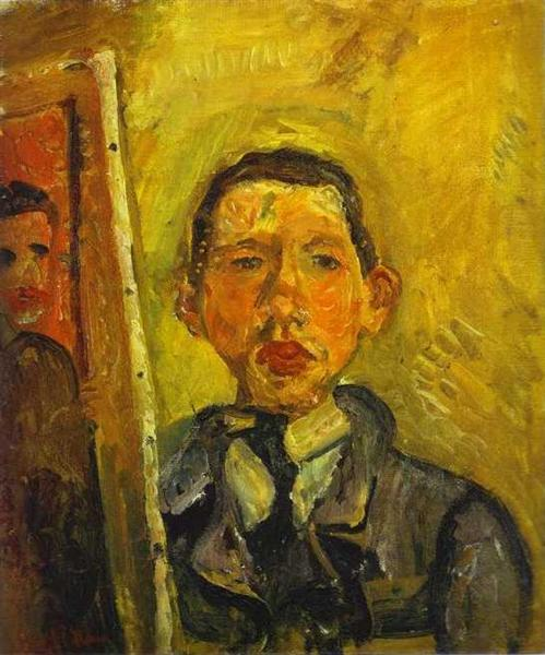 Self Portrait, c.1918 - Chaim Soutine