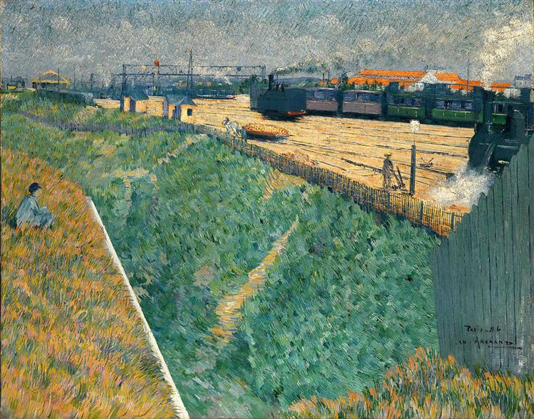 The Western Railway at its Exit from Paris, 1886 - Charles Angrand