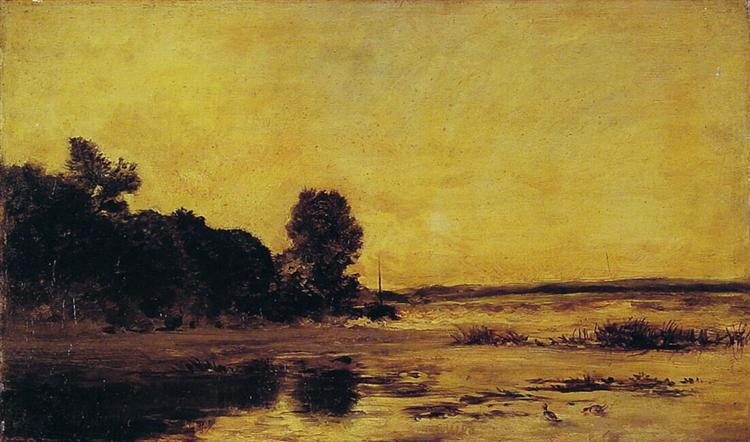 By the sea - Charles-François Daubigny