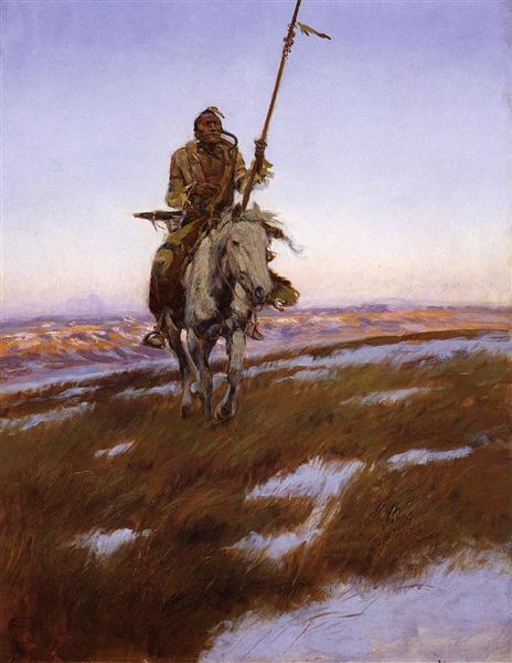 A Cree Indian, 1905 - Чарльз Марион Рассел