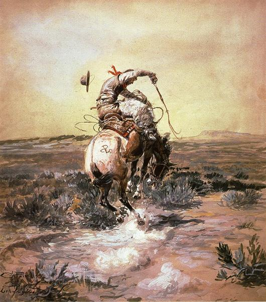 A Slick Rider, 1905 - Charles M. Russell