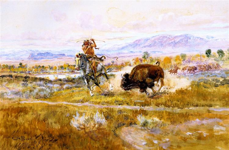 Fighting Meat, 1925 - Charles Marion Russell