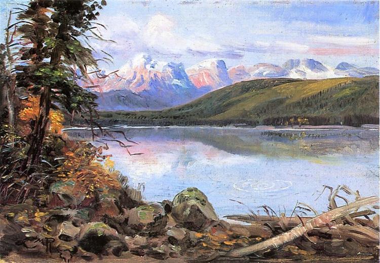Lake McDonald, 1901 - Charles M. Russell