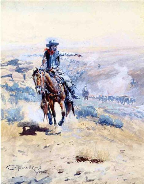 Pointing Out the Trail, 1905 - Charles M. Russell