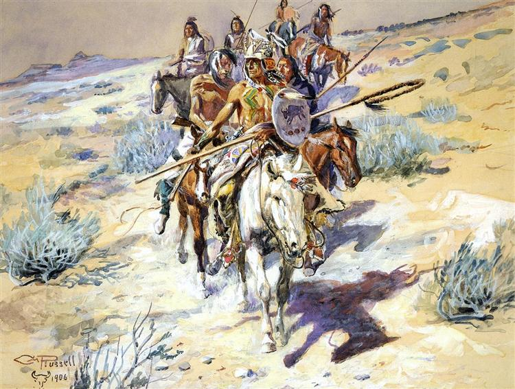 Return of the Warriors, 1906 - Charles M. Russell