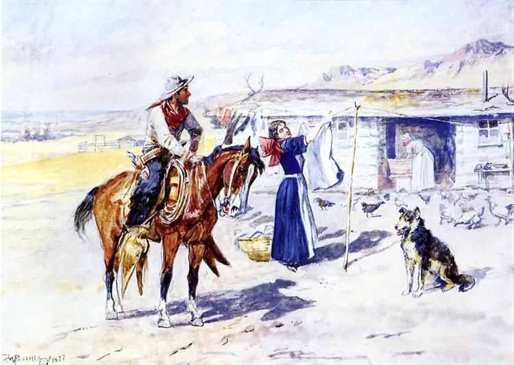 Thoroughman's Home on the Range, 1897 - Charles M. Russell