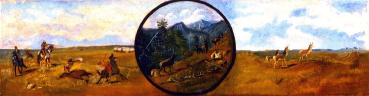Western Scene, 1885 - Charles M. Russell
