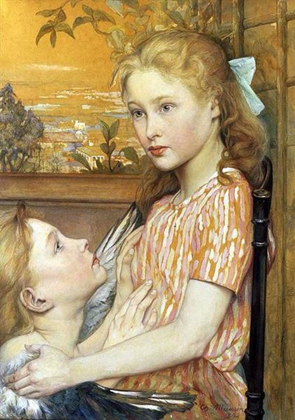 A Girl With Her Guardian Angel - Charles Maurin